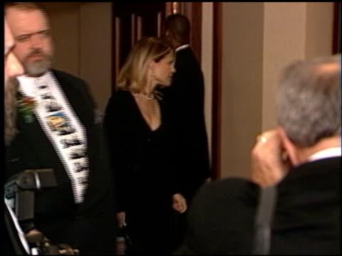 linda hamilton at the directors guild awards at the century plaza hotel in century city, california on march 7, 1998. - センチュリープラザ点の映像素材/bロール