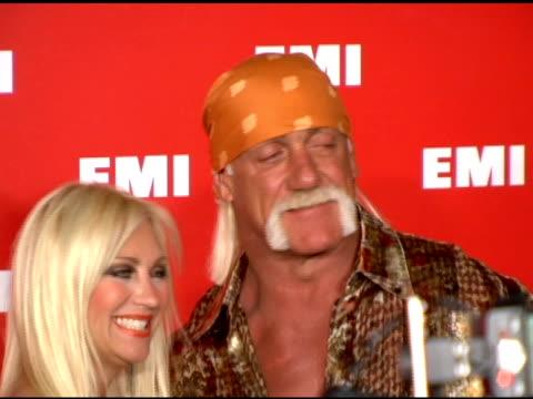 linda hogan and hulk hogan at the emi post-grammy party on february 8, 2006. - emi grammy party stock videos & royalty-free footage