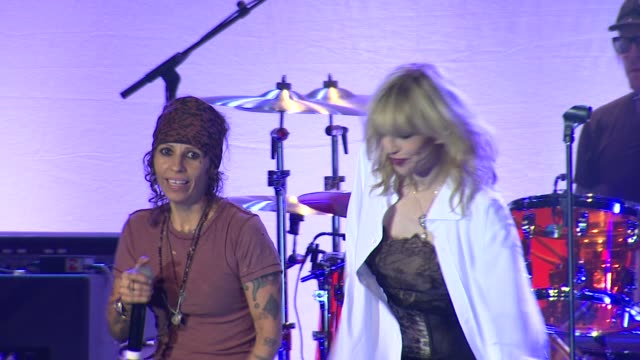 Linda Perry Courtney Love at LA Gay Lesbian Center's An Evening With Women on 5/19/12 in Los Angeles CA