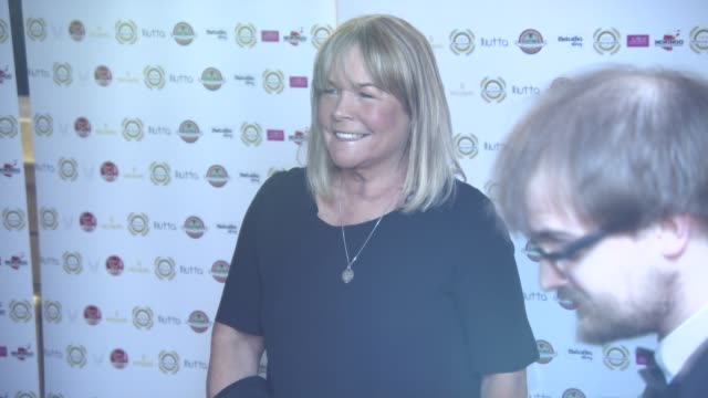 linda robson at national film awards at porchester hall on march 30, 2016 in london, england. - ポーチェスター点の映像素材/bロール