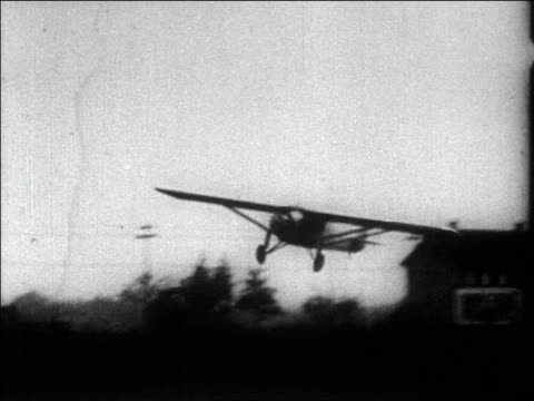 lindbergh landing the spirit of st louis airplane - 1927 stock videos & royalty-free footage