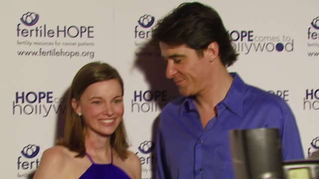 lindsay beck executive director of fertile hope and goran visnjic at the fertile hope's benefit gala 'hope comes to hollywood' at republic restaurant... - executive director stock videos & royalty-free footage