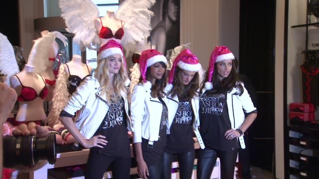 Lindsay Ellingson Chanel Iman Alessandra Ambrosio and Adriana Lima at the Supermodels Adriana Lima Alessandra Ambrosio Lindsay Ellingson and Chanel...