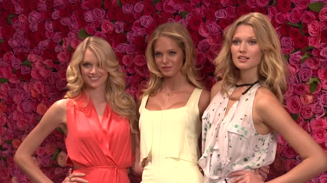 lindsay ellingson erin heatherton and toni garrn at victoria's secret love is heavenly fragrance launch on in new york - launch event stock videos & royalty-free footage