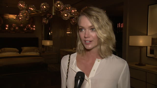 interview lindsay ellingson on what drew her to rh new york tonight what her favorite rh piece has been over the years what stylistic traits continue... - audio hardware stock videos & royalty-free footage
