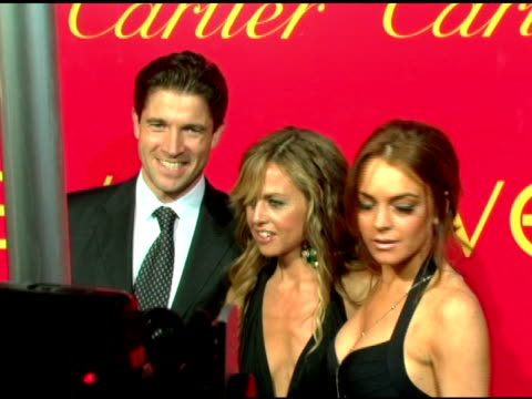 Lindsay Lohan and Rachel Zoe at the Cartier and Interview Magazine Celebration of Love at the Cartier Mansion in New York New York on June 8 2006