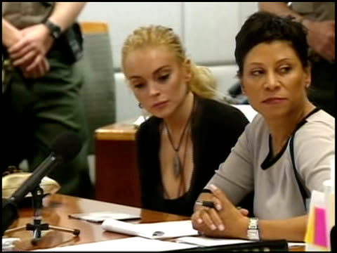 Lindsay Lohan appears in Los Angeles County Superior Court in Los Angeles CA
