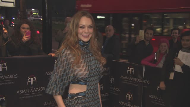 Lindsay Lohan at The 6th Annual Asian Awards 2016 at The Grosvenor House Hotel on April 8 2016 in London England