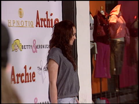 lindsay lohan at the betty and veronica apparel launch at kitson store in beverly hills california on may 24 2004 - 2004 stock videos and b-roll footage