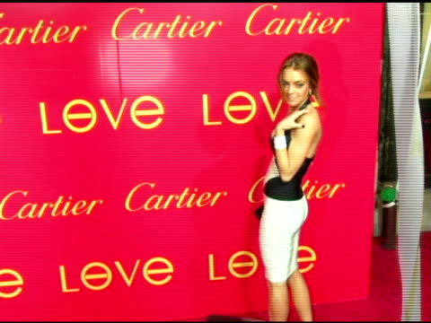 Lindsay Lohan at the Cartier and Interview Magazine Celebration of Love at the Cartier Mansion in New York New York on June 8 2006