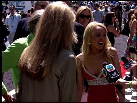 Lindsay Lohan at the 'Herbie Fully Loaded' Premiere at the El Capitan Theatre in Hollywood California on June 19 2005