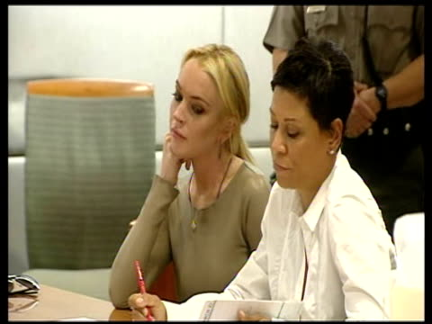 Lindsay Lohan at the Lindsay Lohan Court Appearance Inside at Los Angeles CA