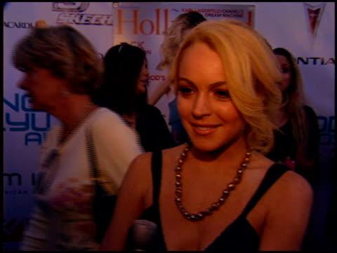 Lindsay Lohan at the Movieline Young Hollywood Awards at the Fonda in Hollywood California on May 1 2005