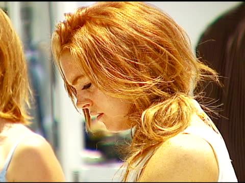 Lindsay Lohan at the Smashbox Cosmetics Celebration of July 4th at Polaroid Beach House in Malibu California on July 4 2006