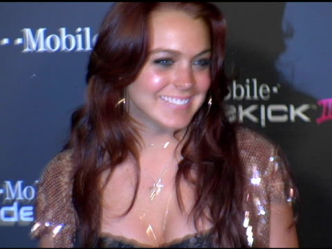 Lindsay Lohan at the 'TMobile Sidekick II' Launch Party arrivals at the Grove in Los Angeles California on August 5 2004
