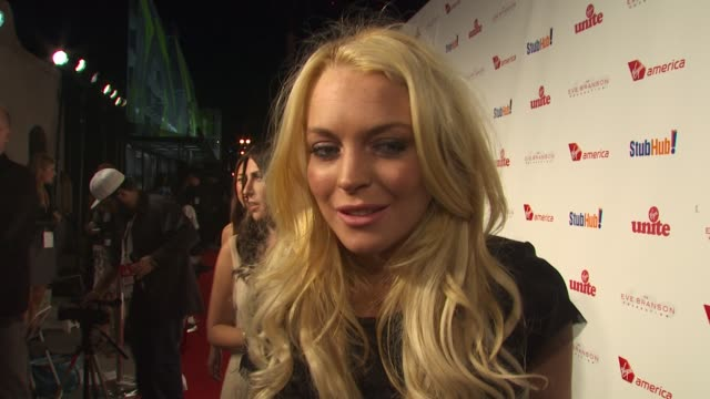Lindsay Lohan on being a part of the night the new documentary she's working on and what inspired it why giving back is important to her what she's...