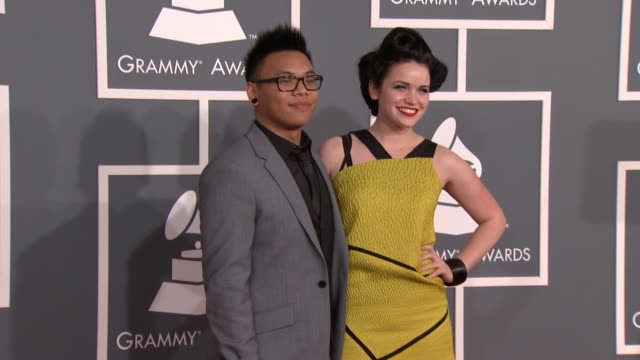 Lindsay Pearce AJ Raphael at 54th Annual GRAMMY Awards Arrivals on 2/12/12 in Los Angeles CA