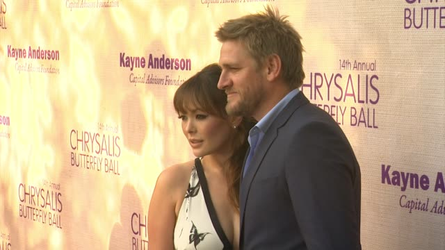 lindsay price curtis stone at 14th annual chrysalis butterfly ball in los angeles ca - chrysalis butterfly ball video stock e b–roll