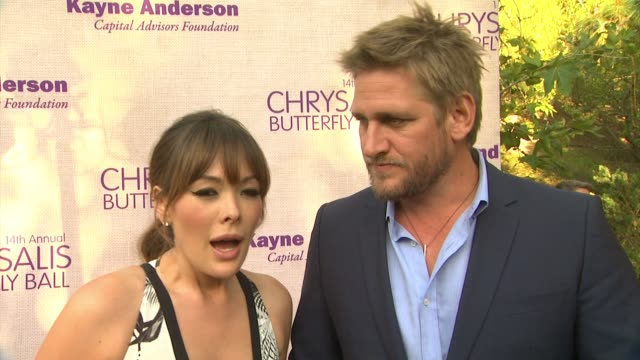 interview lindsay price curtis stone on being a part of the night what they appreciate about chrysalis their summer plans at 14th annual chrysalis... - chrysalis butterfly ball video stock e b–roll