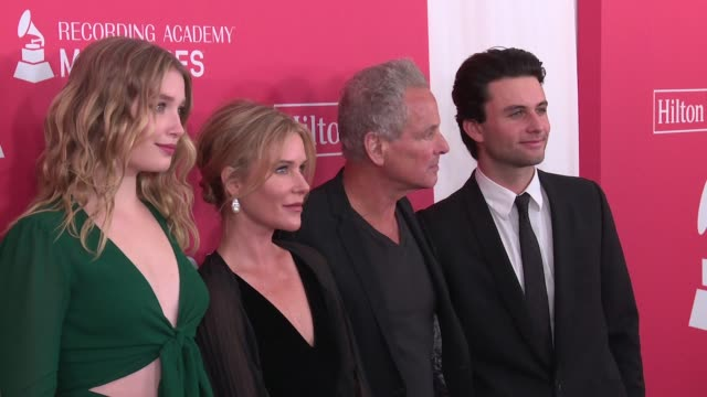 lindsey buckingham kristen messner stella buckingham and william gregory buckingham at musicares grammys tribute at radio city music hall on january... - musicares foundation stock videos & royalty-free footage
