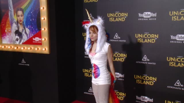 """lindsey stirling at """"a trip to unicorn island"""" world premiere at tcl chinese theatre on february 10, 2016 in hollywood, california. - stirling stock videos & royalty-free footage"""