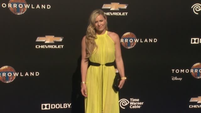 lindsey vonn at the tomorrowland los angeles premiere at amc downtown disney 12 theater on may 09 2015 in anaheim california - anaheim california stock videos and b-roll footage