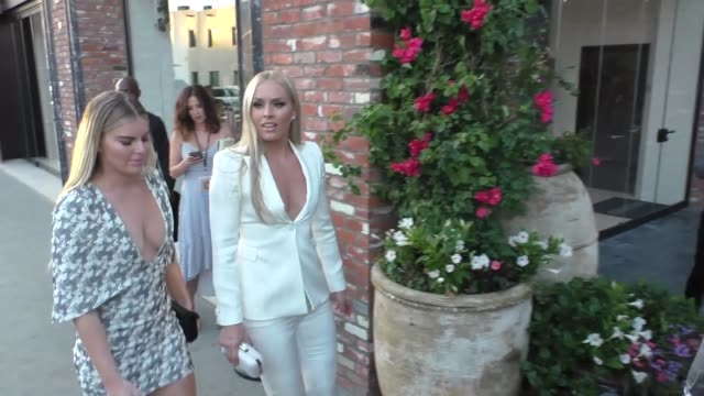 Lindsey Vonn Karin Kildow outside TAO Restaurant in Hollywood in Celebrity Sightings in Los Angeles