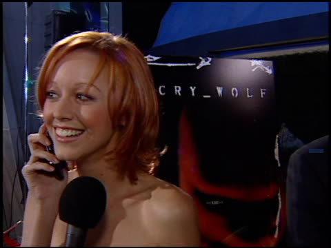 lindy booth at the rogue pictures and chrysler million dollar film festival's los angeles vip screening of 'cry_wolf' at arclight cinemas in... - film screening stock videos & royalty-free footage