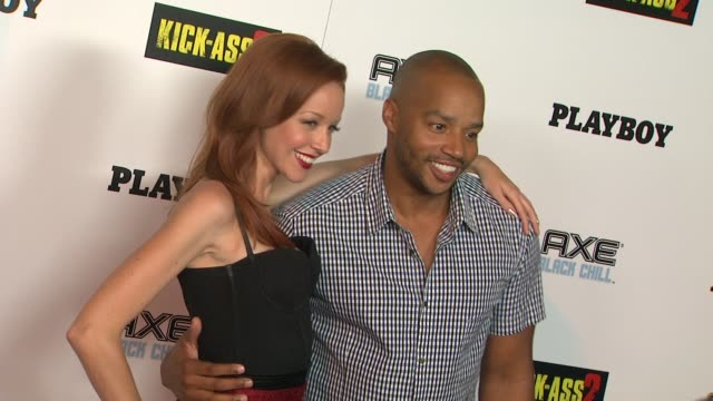 Lindy Booth Donald Faison at Playboy And Universal Pictures' KickAss 2 Event At ComicCon Sponsored By AXE Black Chill on 7/20/2013 in San Diego CA