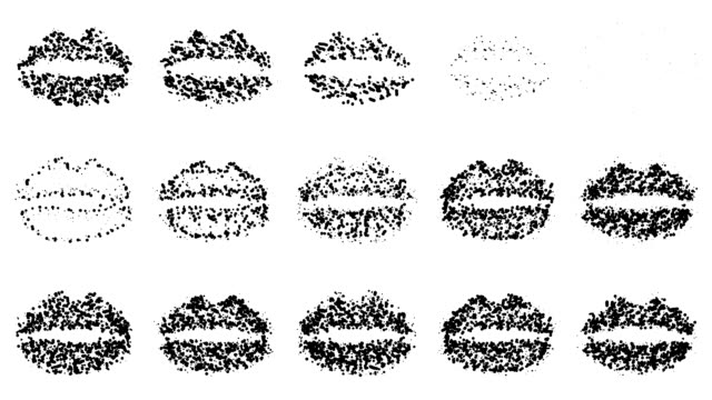 lips : line, black and white (loop) - lipstick kiss stock videos and b-roll footage