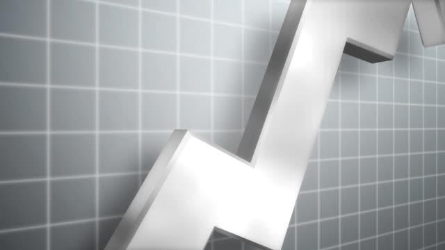 Liniendiagramm wachsenden Weiß