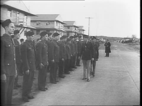 line of soldiers at attention while being inspected by their officer / officer inspecting his troops, straightening a soldier's tie / montage of... - us navy stock videos & royalty-free footage
