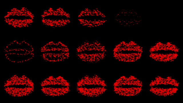 lips : line, red and black (loop) - lipstick kiss stock videos and b-roll footage
