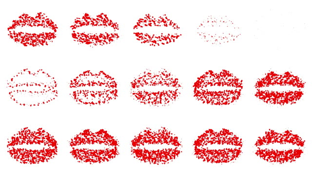 LIPS : line, red and white (LOOP)