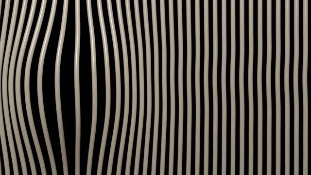 linear gestreifte abstrakte vorhänge - flexibilität stock-videos und b-roll-filmmaterial