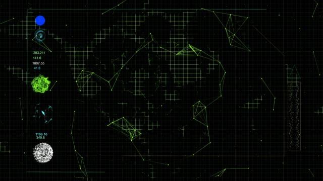 stockvideo's en b-roll-footage met lijnen en punten | digitale interface - spion