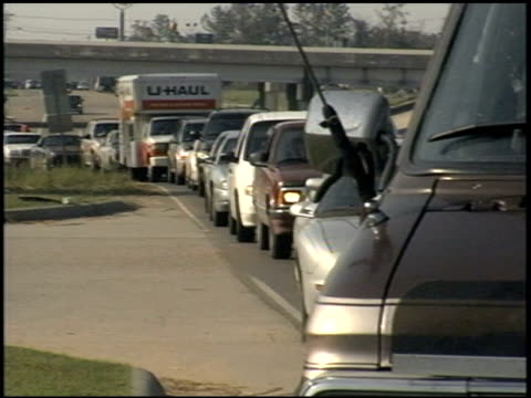 lines of cars waiting for gasoline after hurricane katrina - 2005 stock videos & royalty-free footage