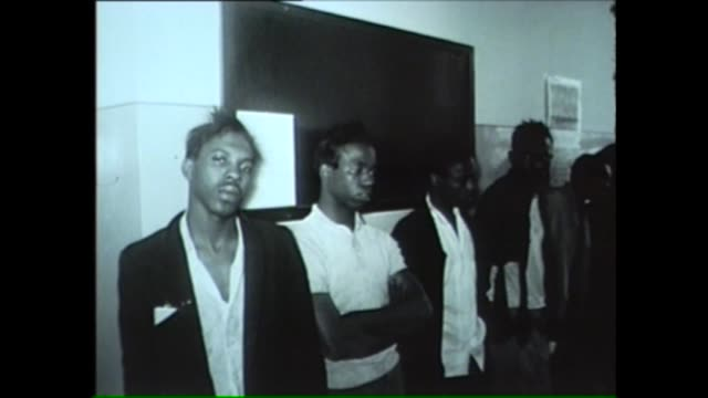 lineup of black male suspects in chicago in 1962 - suspicion stock videos & royalty-free footage