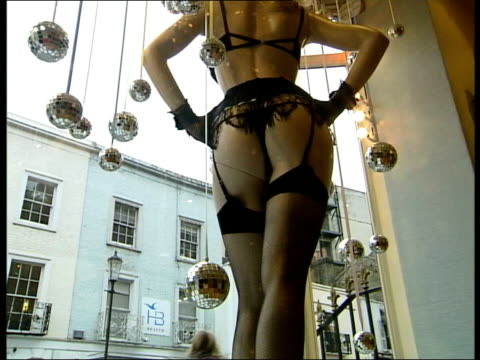 lingerie designer janet reger dies aged 69 england london knightsbridge janet reger lingerie shop ms mannequin wearing janet reger underwear in shop... - underwear stock videos & royalty-free footage