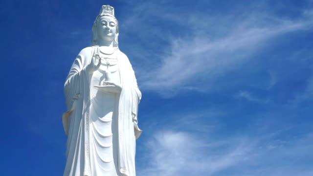 linh ung pagoda in danang , vietnam . - guanyin bodhisattva stock videos & royalty-free footage