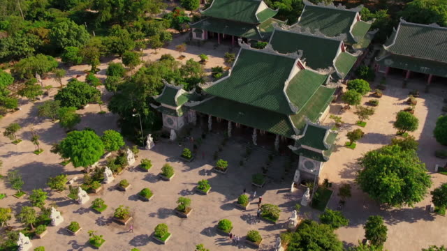 linh ung temple complex in vietnam - pagoda stock videos & royalty-free footage