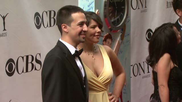 linmanuel miranda and guest at the 63rd annual tony awards red carpet at new york ny - annual tony awards stock videos & royalty-free footage