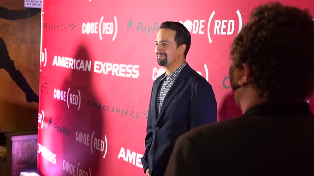 lin-manuel miranda at a night on broadway to celebrate launch of code to fight covid on october 13, 2021 in new york city. - broadway manhattan stock videos & royalty-free footage