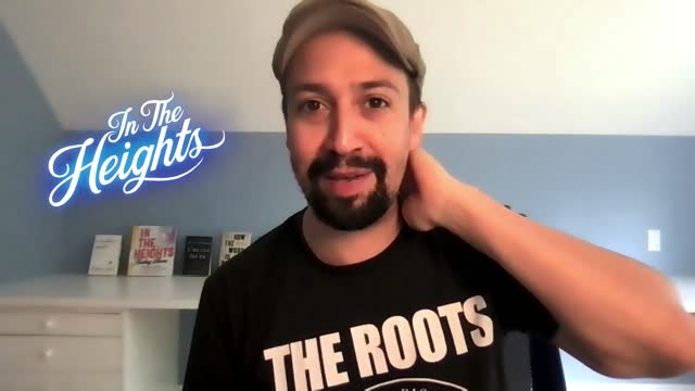 lin-manuel miranda has explained why he removed a reference to donald trump from the song 96,000 in his new film in the heights. interview with... - låtskrivare bildbanksvideor och videomaterial från bakom kulisserna