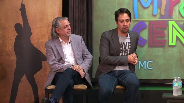 wgn linmanuel miranda sitting next to his father spent time with young thespians at the miracle center an artsbased program that helps atrisk youth... - logan circle stock videos and b-roll footage
