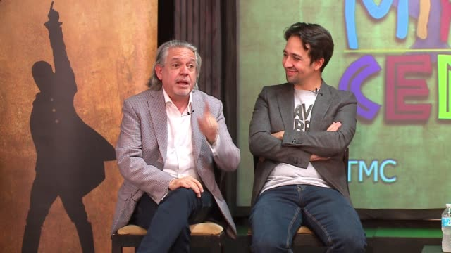 wgn linmanuel miranda sitting next to his father spent time with young thespians at the miracle center an artsbased program that helps atrisk youth... - performing arts event stock videos & royalty-free footage