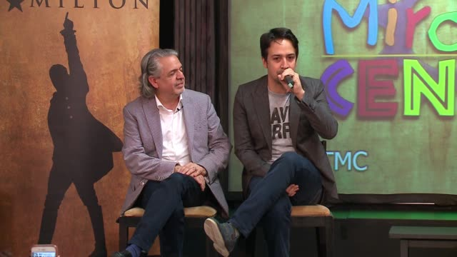 """wgn linmanuel miranda the writer director and star of """"hamilton"""" spent time with young thespians at the miracle center an artsbased program that... - logan circle stock videos and b-roll footage"""
