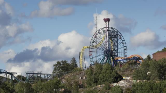 linnanmaki - helsinki, finland - big wheel stock videos & royalty-free footage