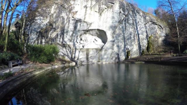 vidéos et rushes de monument du lion, lucerne - monument