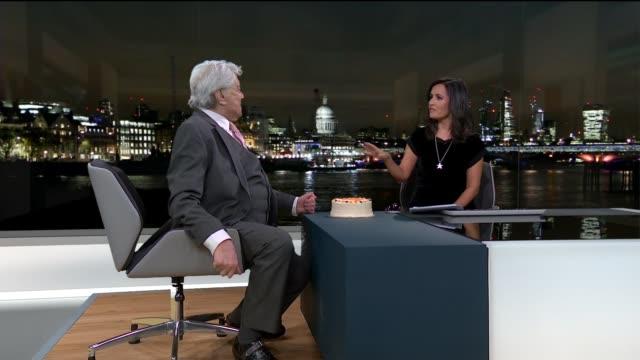 London GIR INT Lionel Blair STUDIO interview SOT